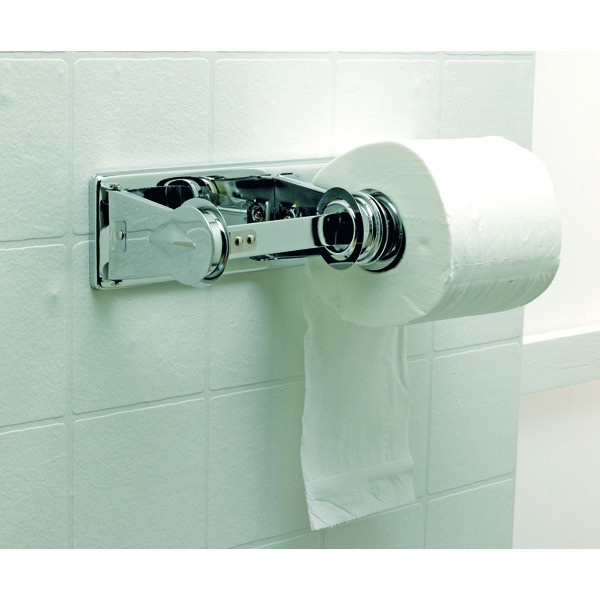 Zinc Plated Double Toilet Roll Holder