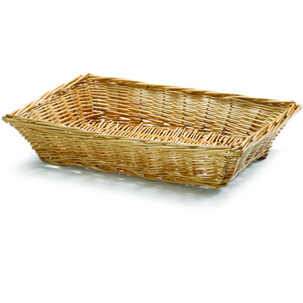 Handwoven Willow Rectangular Basket