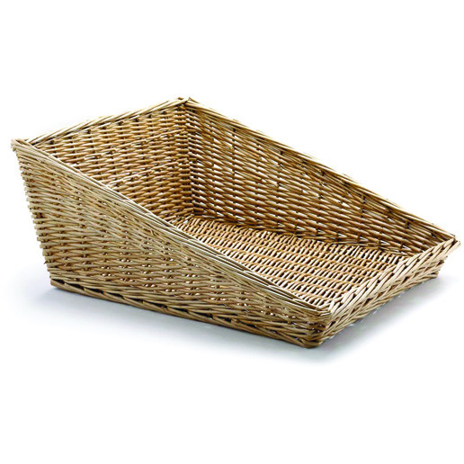 Handwoven Willow Angled Basket