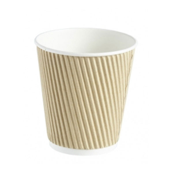 Kraft Compostable Ripple Paper Cup