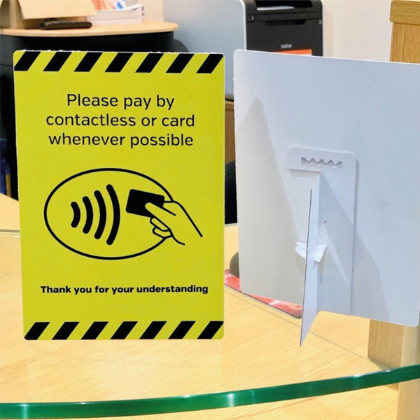 Contactless Where Possible Sign