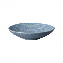 Denby Studio Blue Large Ridged Bowl