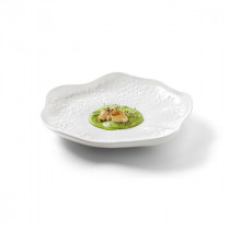 Vista Alegre Chefs Collection Coral Plate Biscuit Finish by Chef Luis Baena