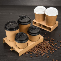 4 Cup Carriers Corrugated Cardboard