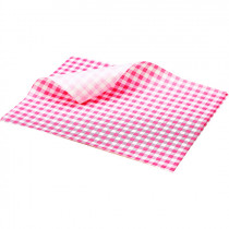 Genware Greaseproof Paper Sheet Gingham