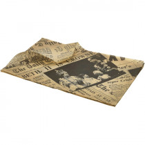 Genware Newspaper Print Greaseproof Paper Sheets