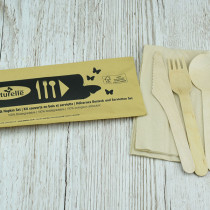 Cutlery Set Contains Knife, Fork, Spoon & Napkin