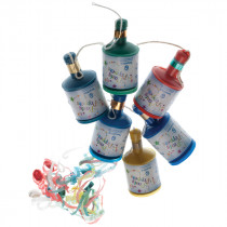 Multi Coloured Party Poppers