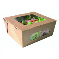 Kraft Salad Box With Windows