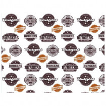 Genware Greaseproof Paper Sheet Burger Print In Dispenser Box