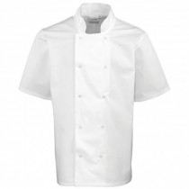 Standard Press Stud Short Sleeve Chefs Jacket