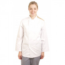 Standard Plastic Button Long Sleeve Chefs Jacket
