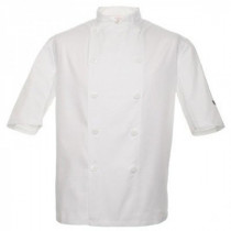 Standard Plastic Button Short Sleeve Chefs Jacket
