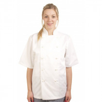 Executive Removeable Button Short Sleeve Chefs Jacket