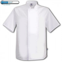 Coolmax Concealed Press Stud Short Sleeve Chefs Jacket