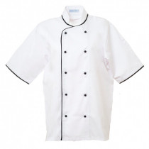 Executive Florentine Style Short Sleeve Chefs Jacket