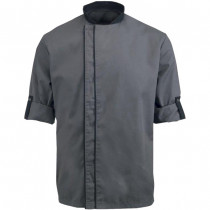 Executive Bordeaux Style Short Sleeve Chefs Jacket