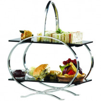 2 Tier Cake Stand With Acrylic Inserts