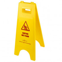 """Double Sided A Frame """"Caution Wet Floor"""" """"Cleaning In Progress"""""""