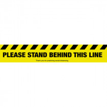 Please Stand Behind This Line Sign