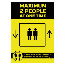 Maximum 2 People Lift Sign