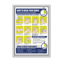 How To Wash Your Hands Framed Poster