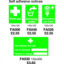 First Aid Sign Self Adhesive
